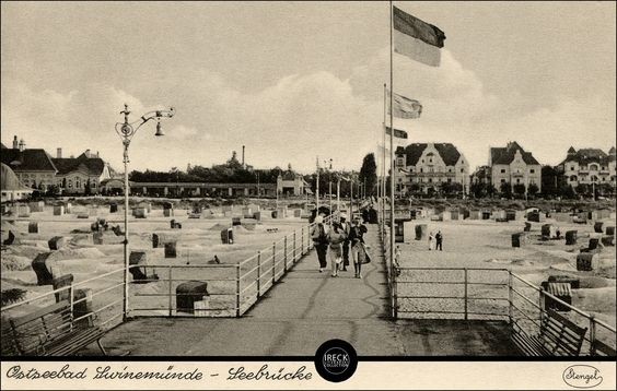 Ostseebad Swinemünde - Seebrücke 30er Jahre.