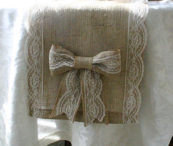 Manualidades con tela de saco en pinterest buscar con - Manualidades con tela de saco ...