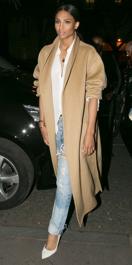 Shop our favorite sleek overcoats inspired by singer Ciara.: