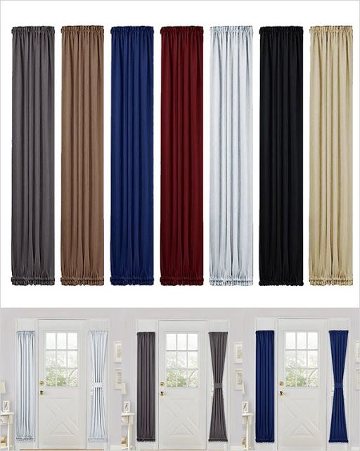 Blackout Curtain For French Doors Thermal Insulated Blackout