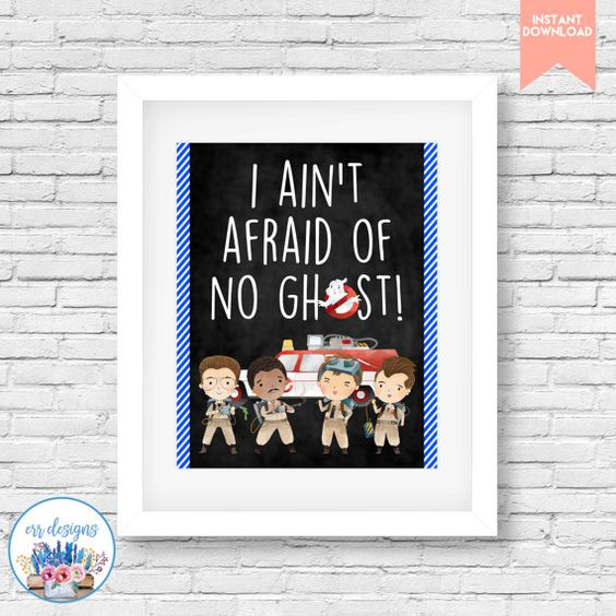 Ghostbusters Printable Party Sign by ERRdesigns