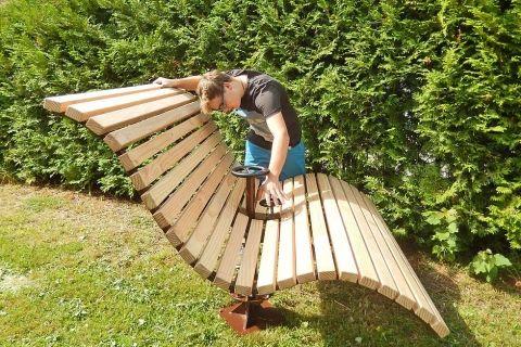 Himmelsbank Baschnagel Metall In Design Douglasie Holz Schwedische Mobel Gartengestaltung Ideen