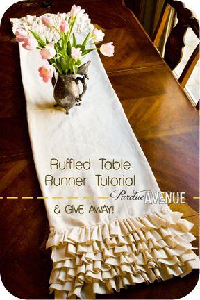 tutorial for ruffled table runner.