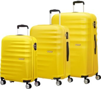 American Tourister Wavebreaker 4-Rad Trolley Set 3-tlg 06 sunny yellow