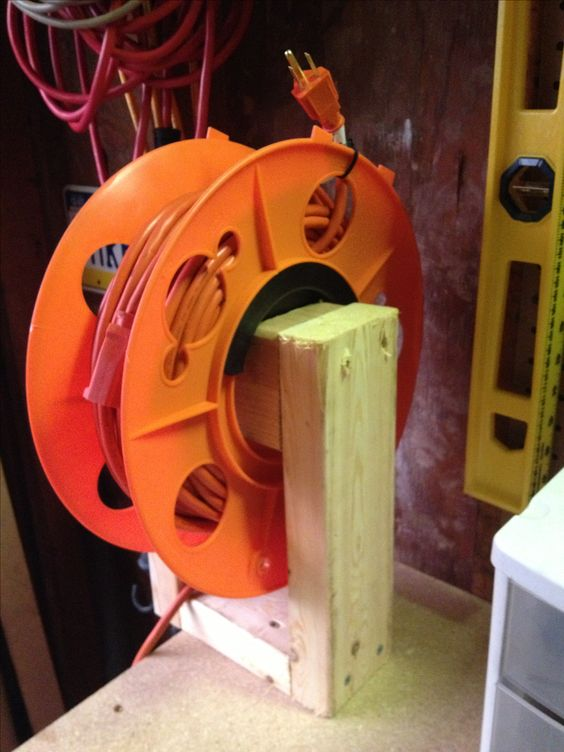 Diy Extension Cord Reel Outdoors Pinterest