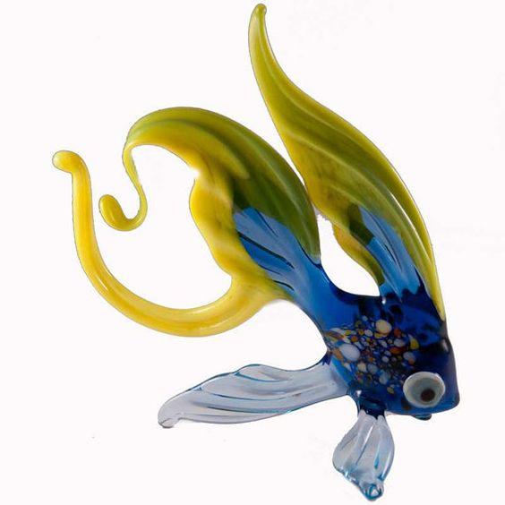 Hand Blown Glass Fish Sculpture Is A Hand Blown Art Glass