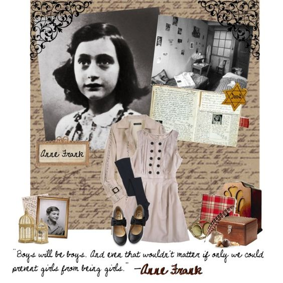 Anne Frank, created by miss-book-lover on Polyvore