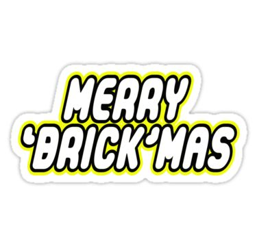 MERRY 'BRICK'MAS in brick font by Customize My Minifig by ChilleeW