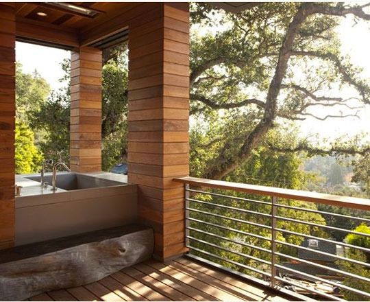 indoor / outdoor showers