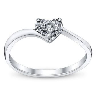 10K White Gold Diamond Promise Ring from @Robbins Brothers