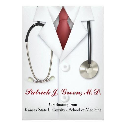 183 best medical school graduation invitations images on pinterest male doctor graduation invitation medical school filmwisefo
