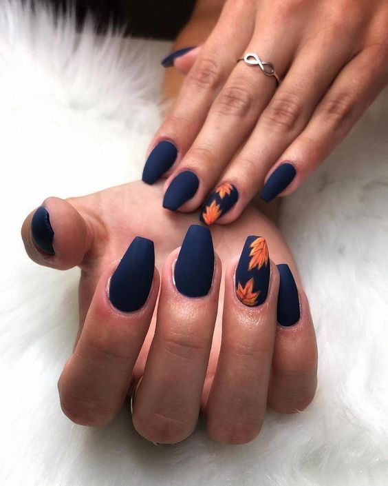 54 Stylish Fall Nail Designs And Colors You Ll Love Cute Nails For Fall Gorgeous Nails Fall Acrylic Nails