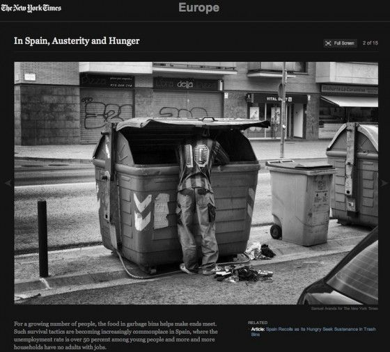 "Pulsa en la imagen para acceder al reportaje ""In Spain, Austerity and Hunger"" en el New York Times"
