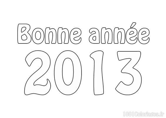 Coloriage Coloriage bonne annee 2013