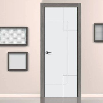 Jb Kind Limelight Fortune Flush Fire Door Is White Primed And 1 2 Hour Fire Rated Door Design Interior Room Door Design Bedroom Door Design