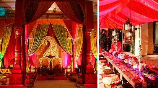 Decoraci n hind hindu pinterest hindus y fiestas for Decoracion estilo hindu