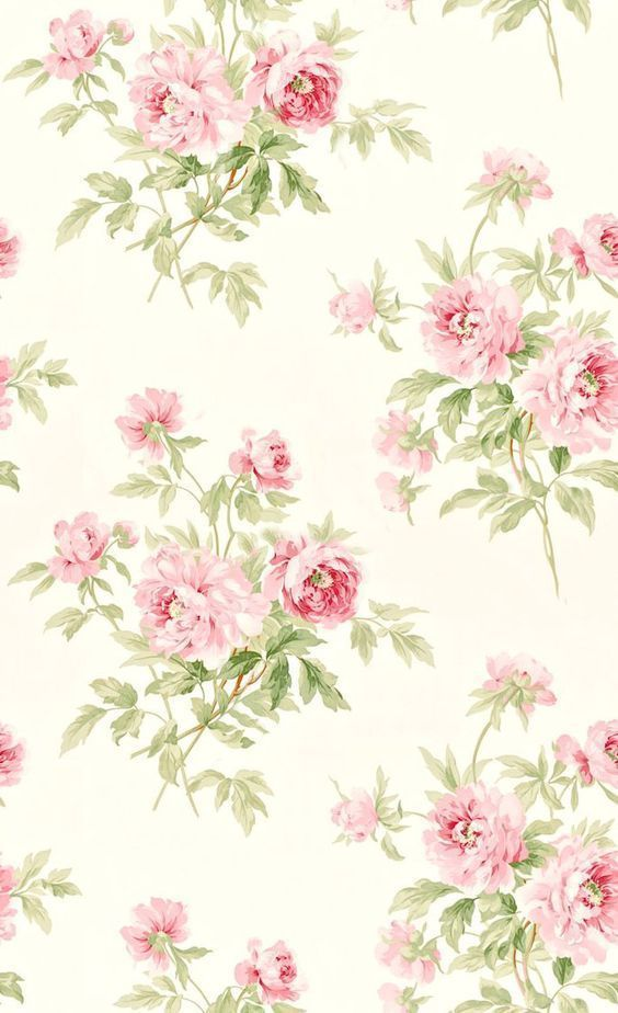 6 99 Dollhouse Miniature Shabby Chic Wallpaper Pink Roses