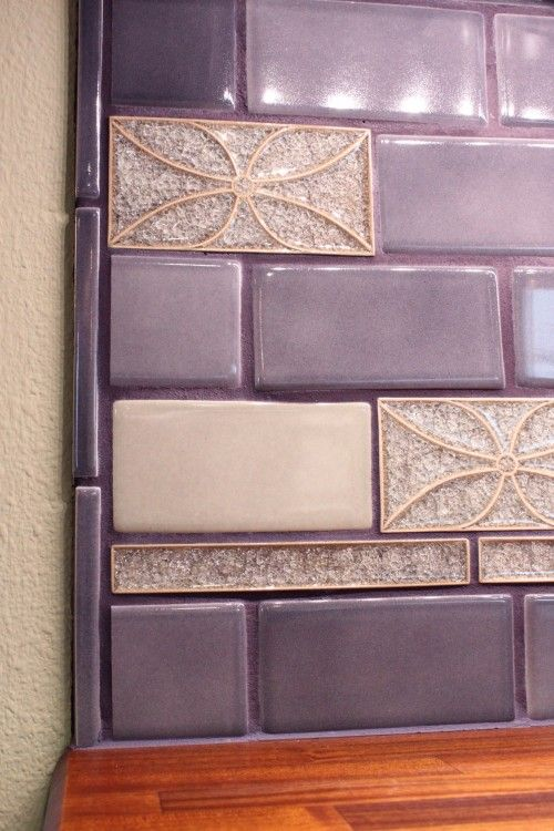 Purple nice buts and grout on pinterest for Purple bathroom tiles ideas