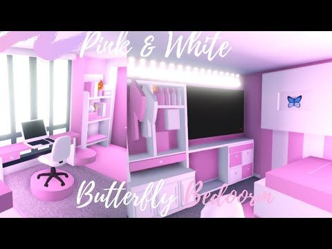 Pink White Butterfly Bedroom Speedbuild Adopt Me Roblox Youtube Butterfly Bedroom Cute Room Ideas Room Ideas Bedroom