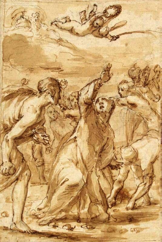 33 - Эрмитаж. Шедевры - 5 - Terra Incognita. Сайт Рэдрика   Кастелло, Валерио - Побиение камнями св. Стефана