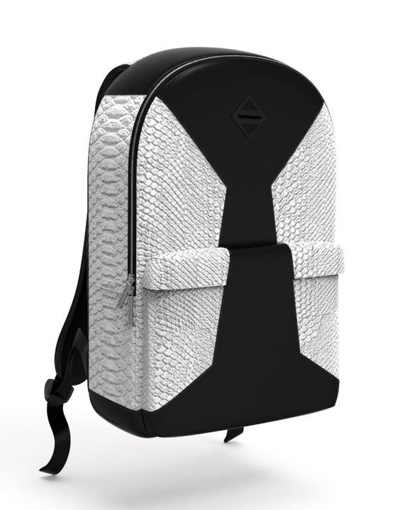 Sprayground - CUT & SEW WHITE FAUX CROCODILE BACKPACK