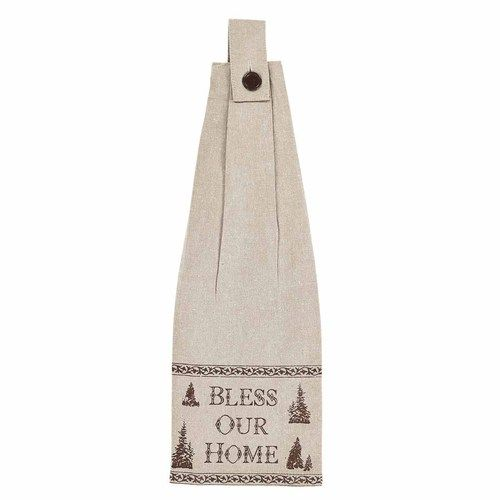 Woodland Christmas Button Loop Kitchen Towel Set of 2