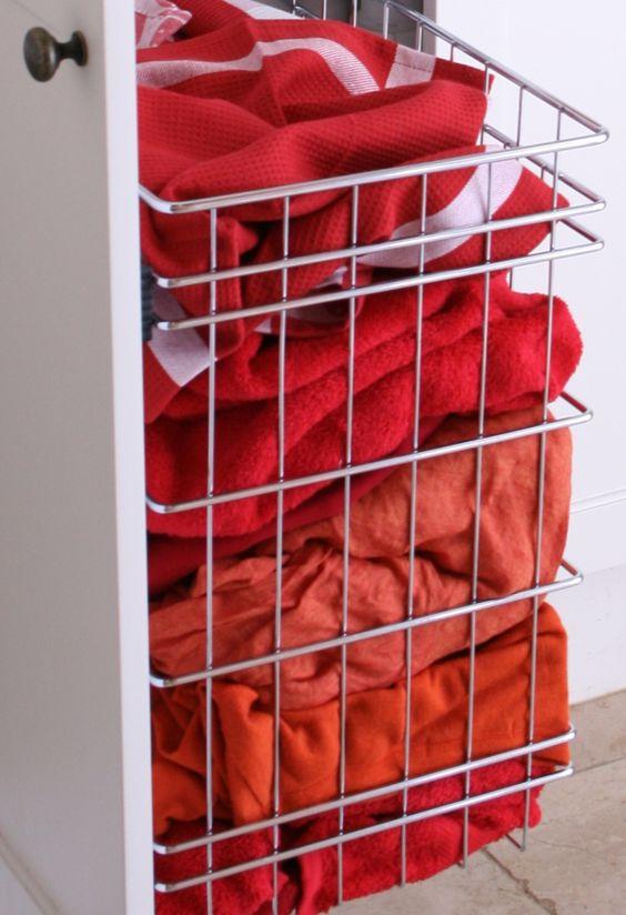 TANSEL BEDROOM STORAGE: Wardrobe Individual Wire Laundry Basket
