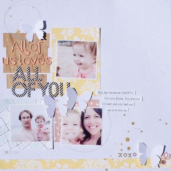 #papercraft #scrapbook #layout. shanna noel: Layout Love | Merlin Edition