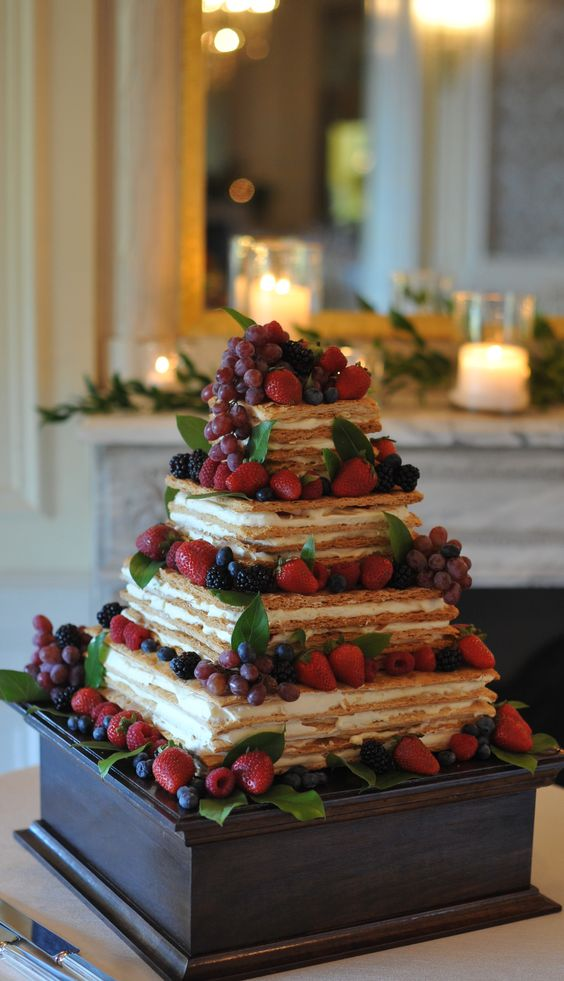 Mille Feuille wedding cake: