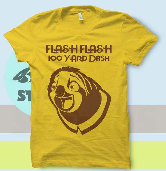 Zootopia Flash Flash 100 yard Dash Sloth T by SnarkySharkStudios
