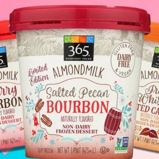 Whole Foods Launches 3 Boozy Vegan Holiday Ice Cream Pints Holiday Ice Cream Vegan Holidays Whole Food Recipes