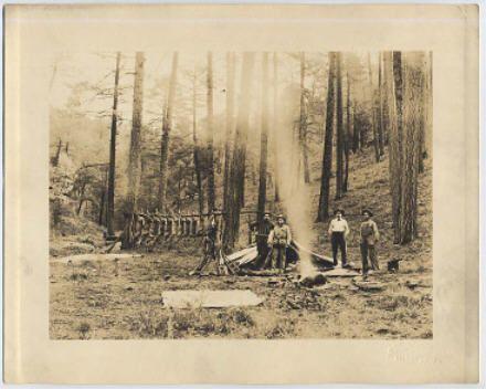 1915 Photo Cowboy Hunters Kill Camp Irwin Bisbee AZ   eBay