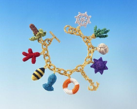 crochet charm bracelet by felieke van der leest