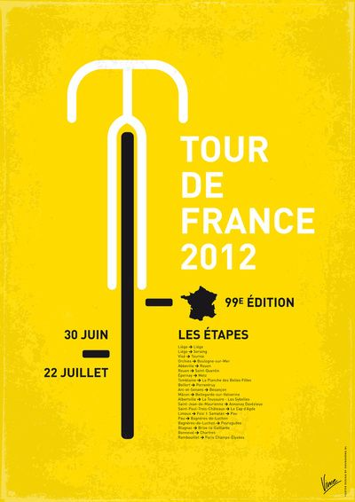 2012 Tour de France poster: 99th edition (30 June-22July)