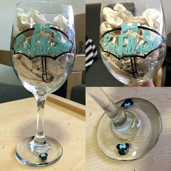 Custome logo for business hand painted wine glass