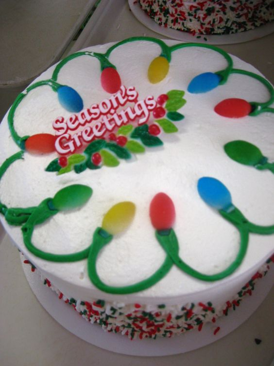 Holiday cake by Mueller's Bakery!