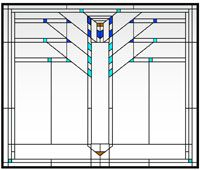 Art glass frank lloyd wright series eucalyptus andersen for Anderson art glass