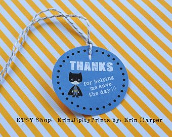 Batman favor tags batman tags por NiuDesigns en Etsy