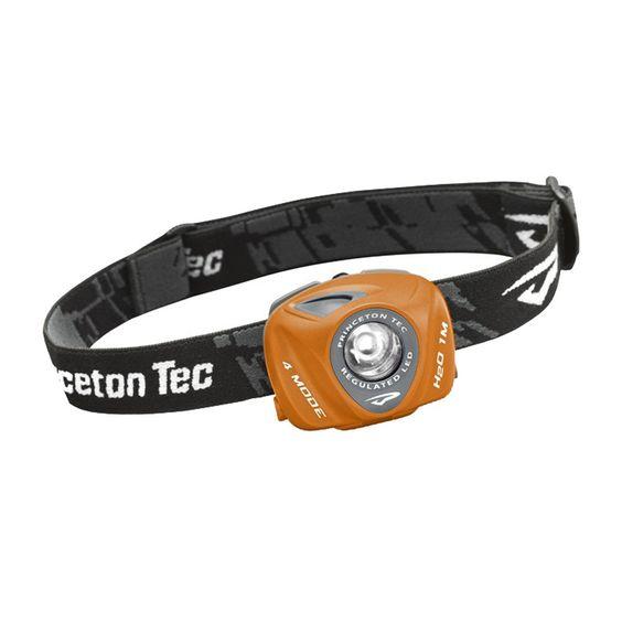 Princeton Tec EOS - 105 Lumen Headlamp - Orange/Grey