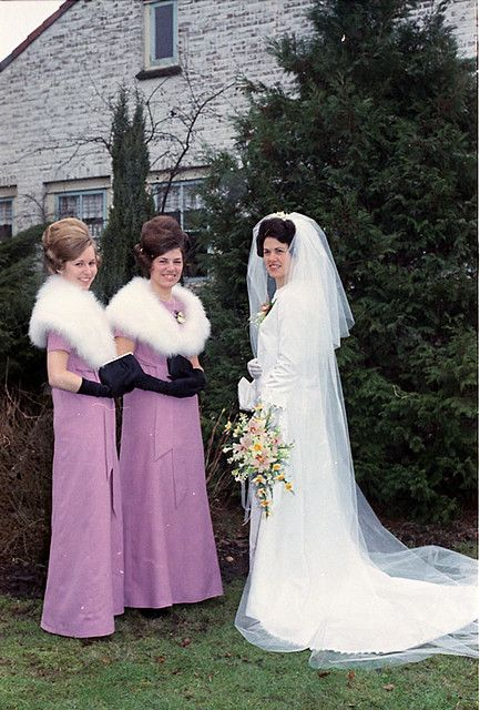Inez and Minnie tried hard not to upstage second cousin Bernice at her wedding, but they couldn't help that they looked so damn hot in orchid and fur.: