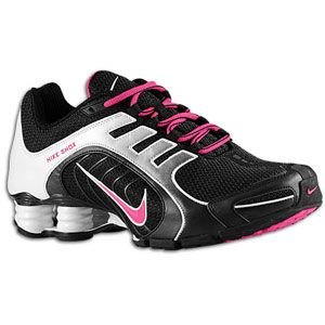 black and pink nike shox for women