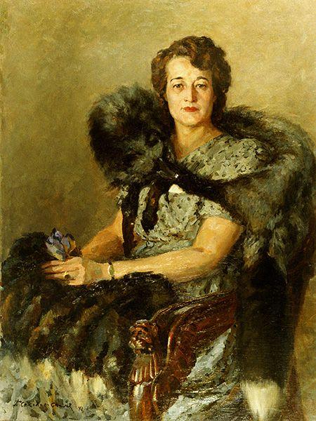 П. Соколов-Скаля. Женский портрет. 1943: