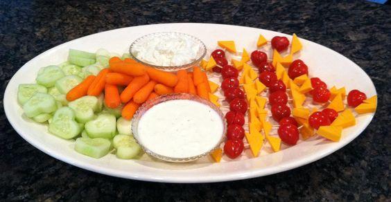 valentine veggie platter