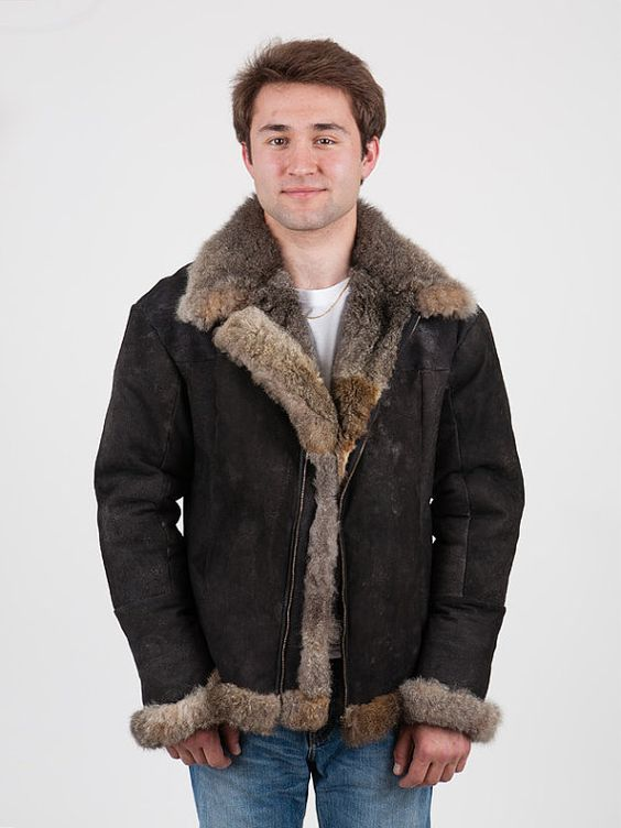 Possum Fur Men's Air Force Jacket // Made in New Zealand | Fur ...
