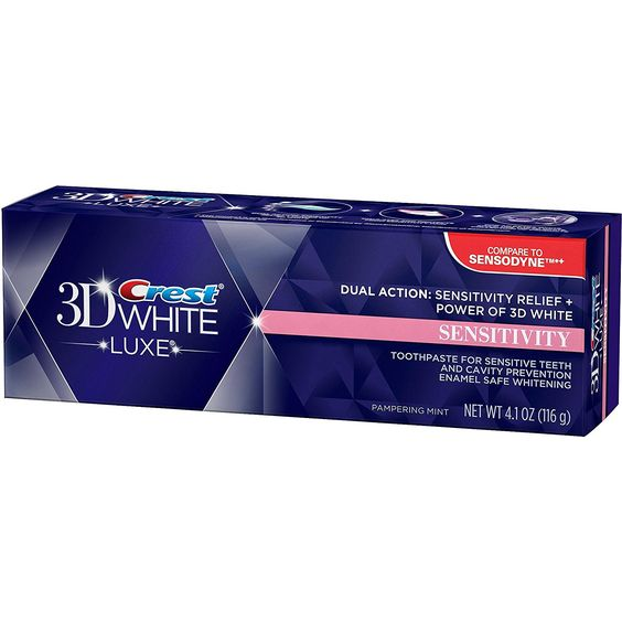 Crest, 3D White Luxe Sensitivity Whitening Pampering Mint Flavor Toothpaste - 4.1 Oz, Pack of 2 * Read more reviews of the beauty product by visiting the link on the image.