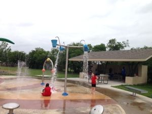 Bi Centennial Splash Pad at Frisco Commons