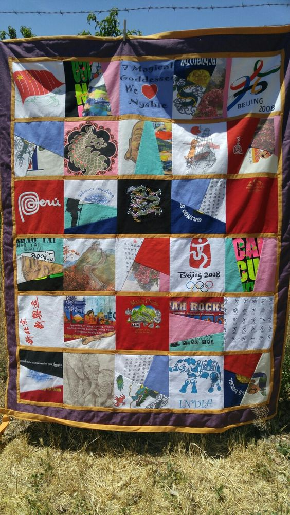 Cec's T-shirt Quilt for Ginny!