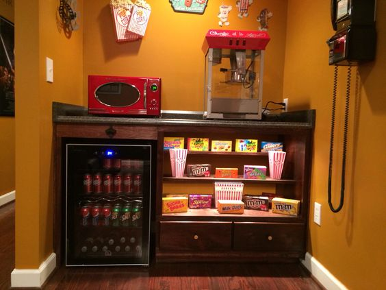 Our home theater's concession stand.