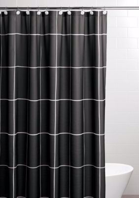 84 Inch Shower Curtain In 2020 Black White Shower Curtain Cute