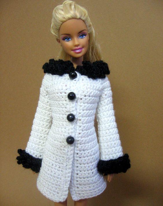 barbie crochet coats  10..3 [ch] pinterest.com